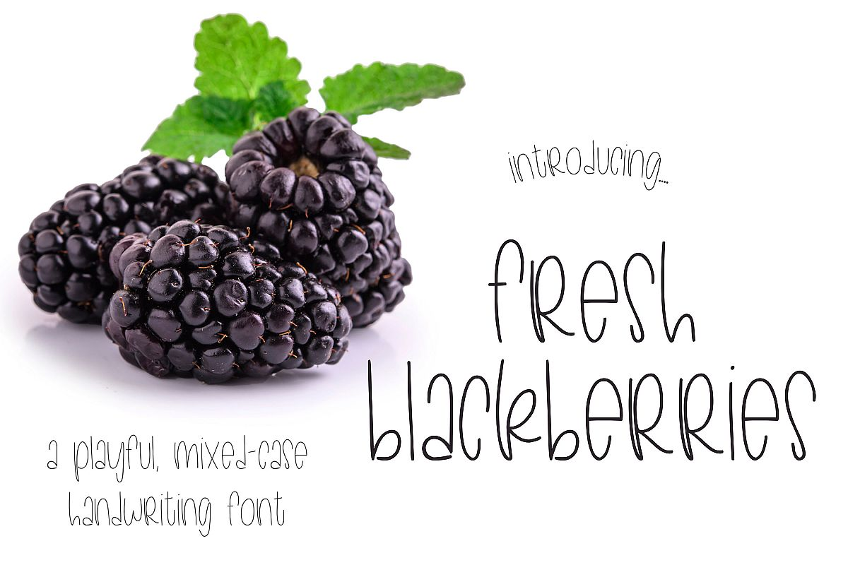 Fresh Blackberries example image 1