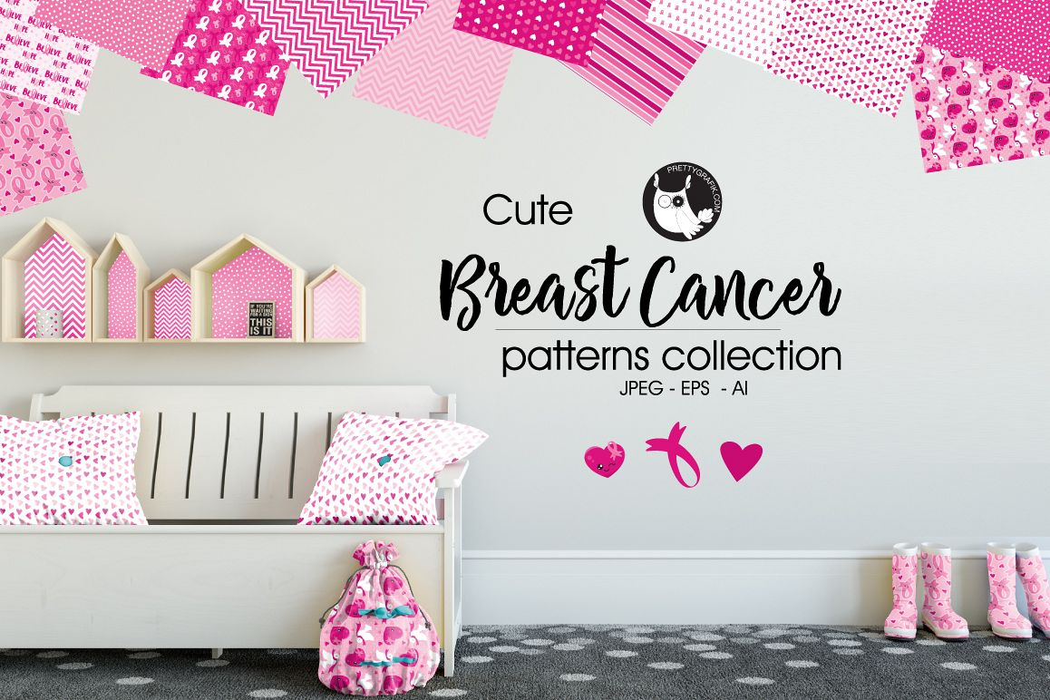 BREAST-CANCER , digital papers example image 1