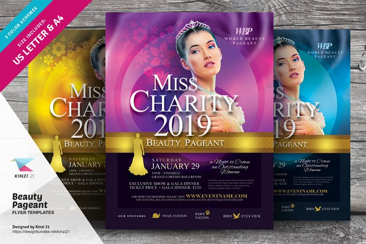 Beauty Pageant Flyer Templates example image 1