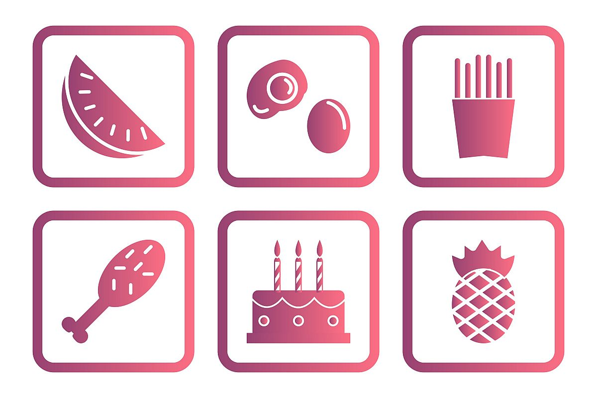 Set Of Food Icons example image 1