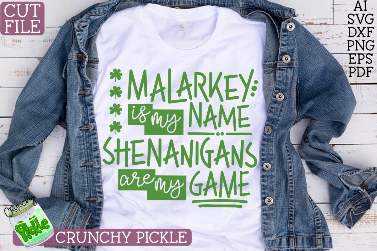 Malarkey Name, Shenanigans Game St Patick's Day SVG Cut File example image 1