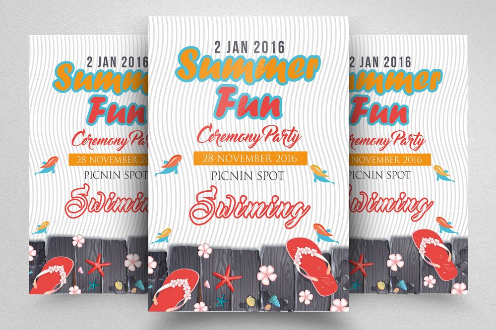 summer picnic party flyer