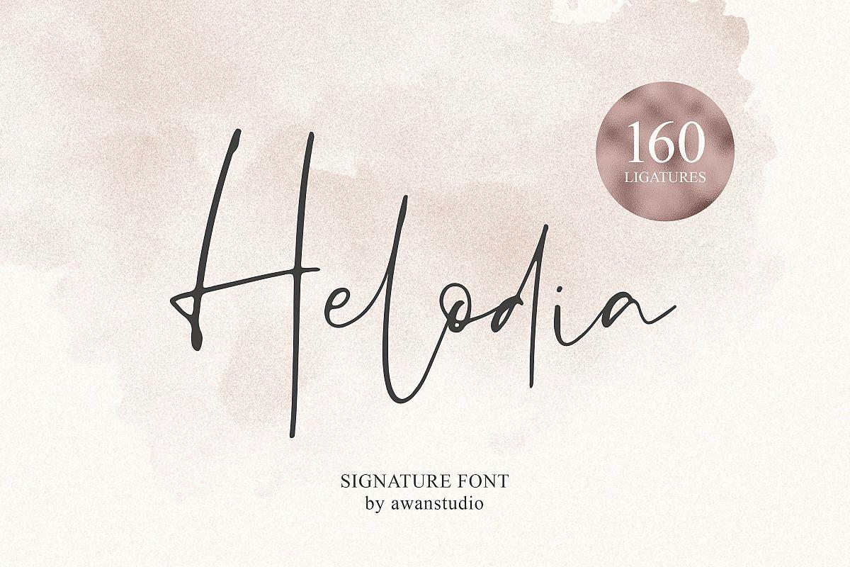 Helodia Font example image 1