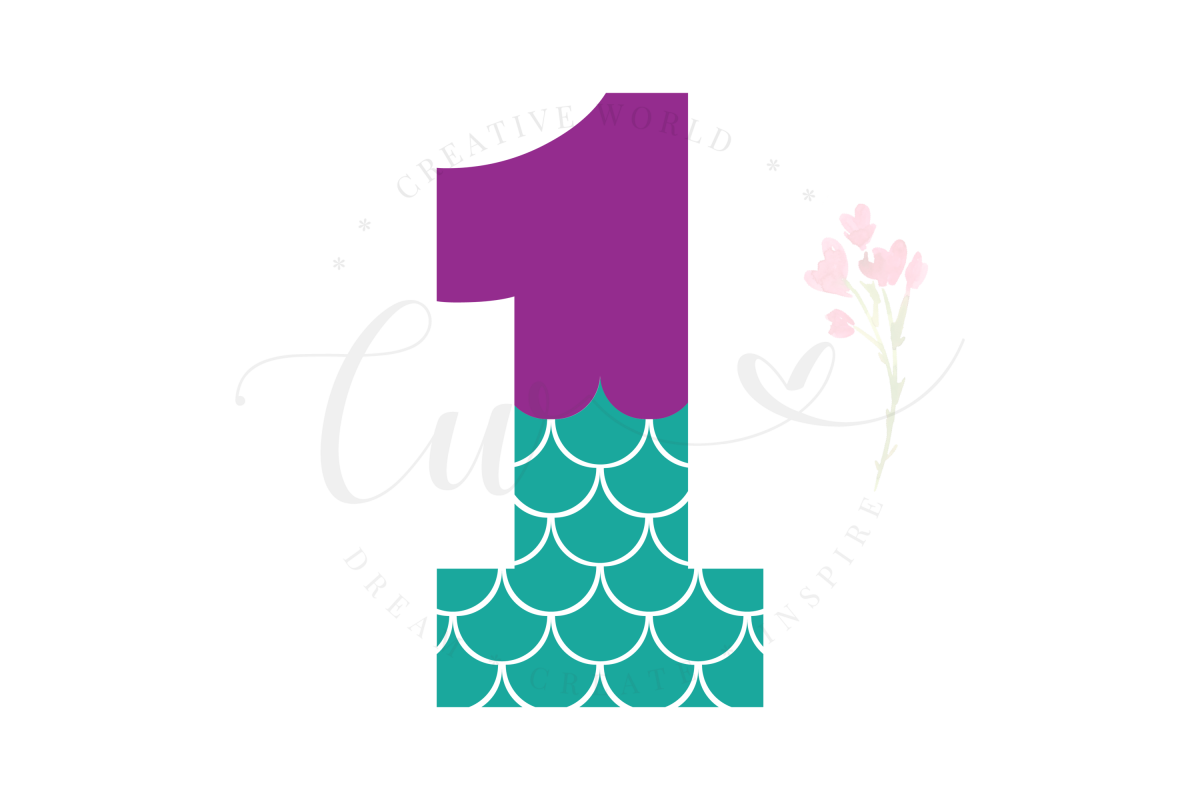 My 1st Birthday Mermaid SVG | Mermaid Birthday Girl svg example image 1