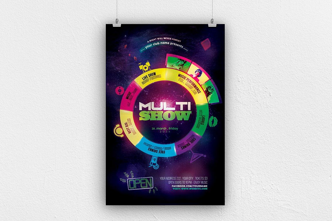 Multi Show Flyer Template example image 1