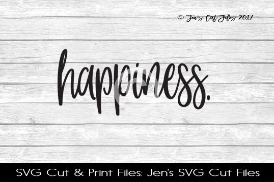 Happiness SVG Cut File example image 1