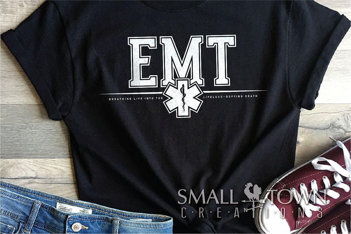 EMT, Emergency Medcial Technician, Logo, PRINT, CUT & DESIGN example image 1