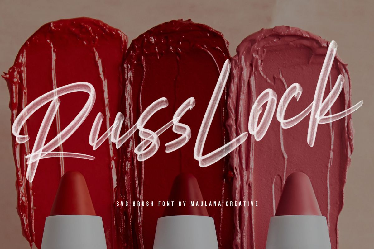 Russlock SVG Brush Font example image 1