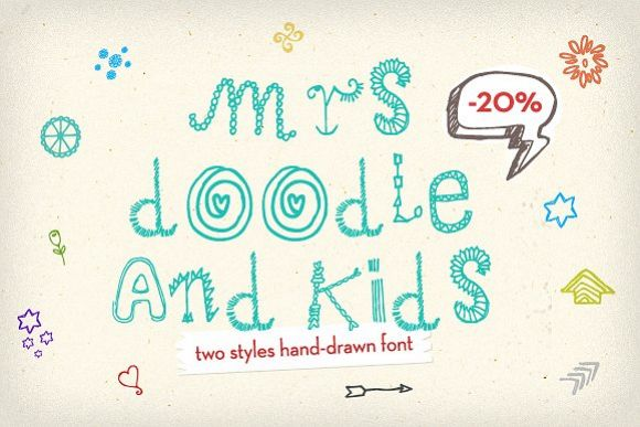 Mrs Doodle Fonts example image 1