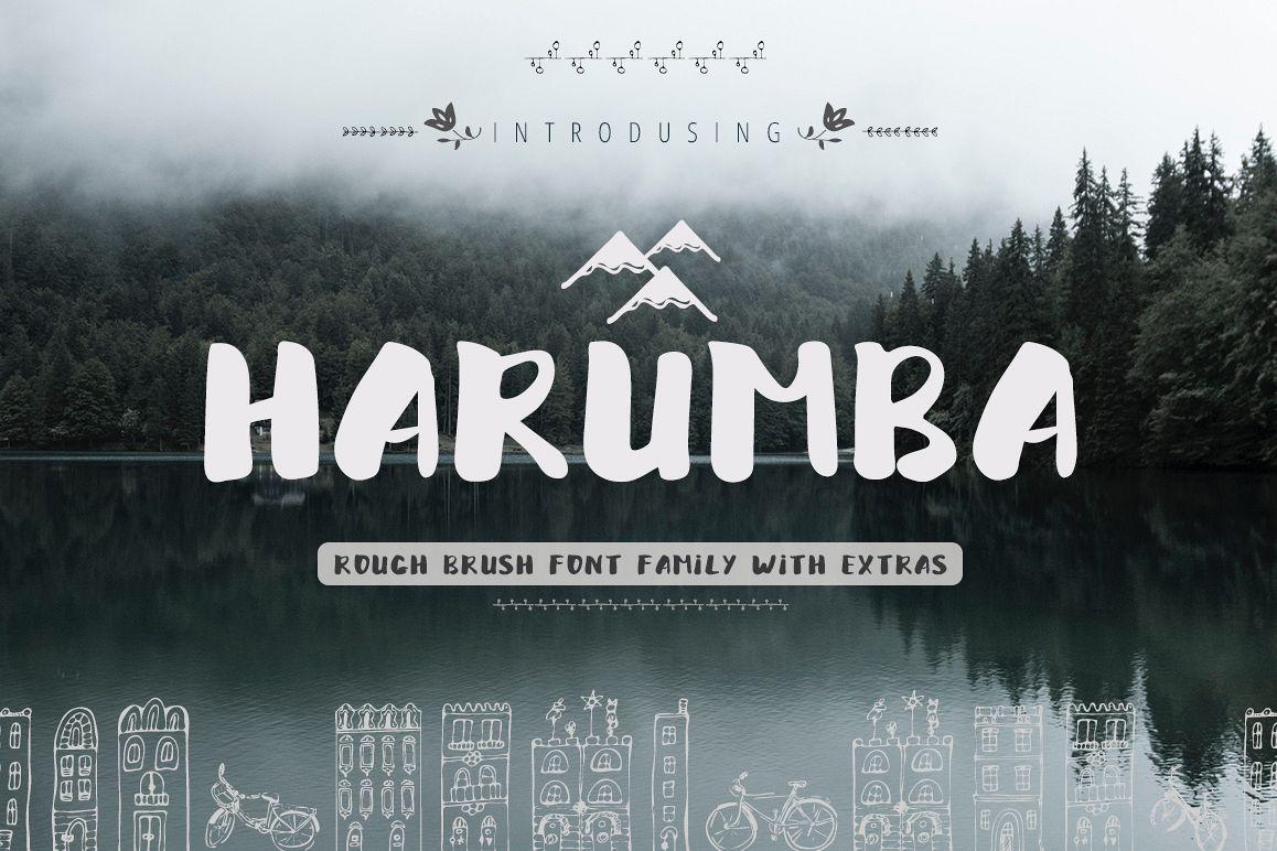 Harumba Brush font example image 1