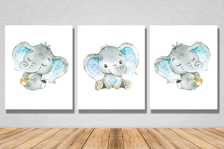 Viewing Product Baby Elephant Wall Decoration