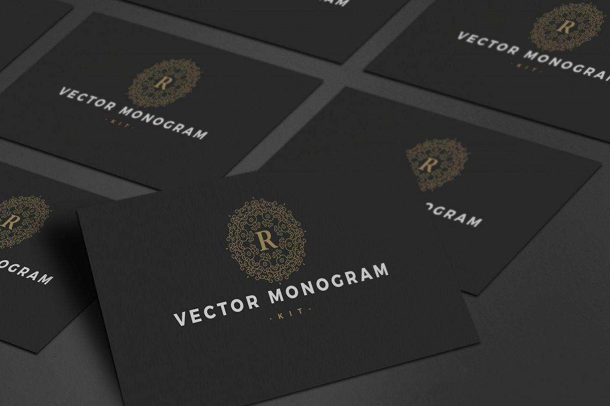 27 Vector Logo Monogram Kit Bundle example image 1