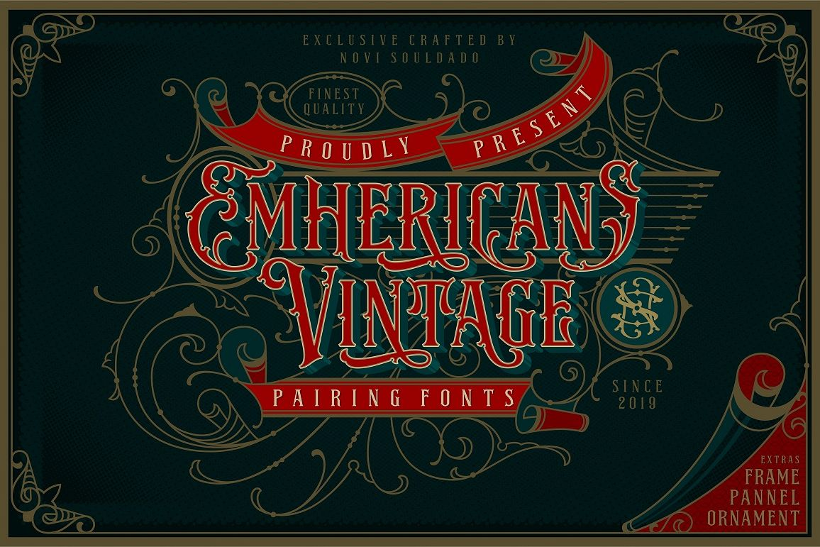 NS Emnhericans Vintage Pairing Fonts example image 1