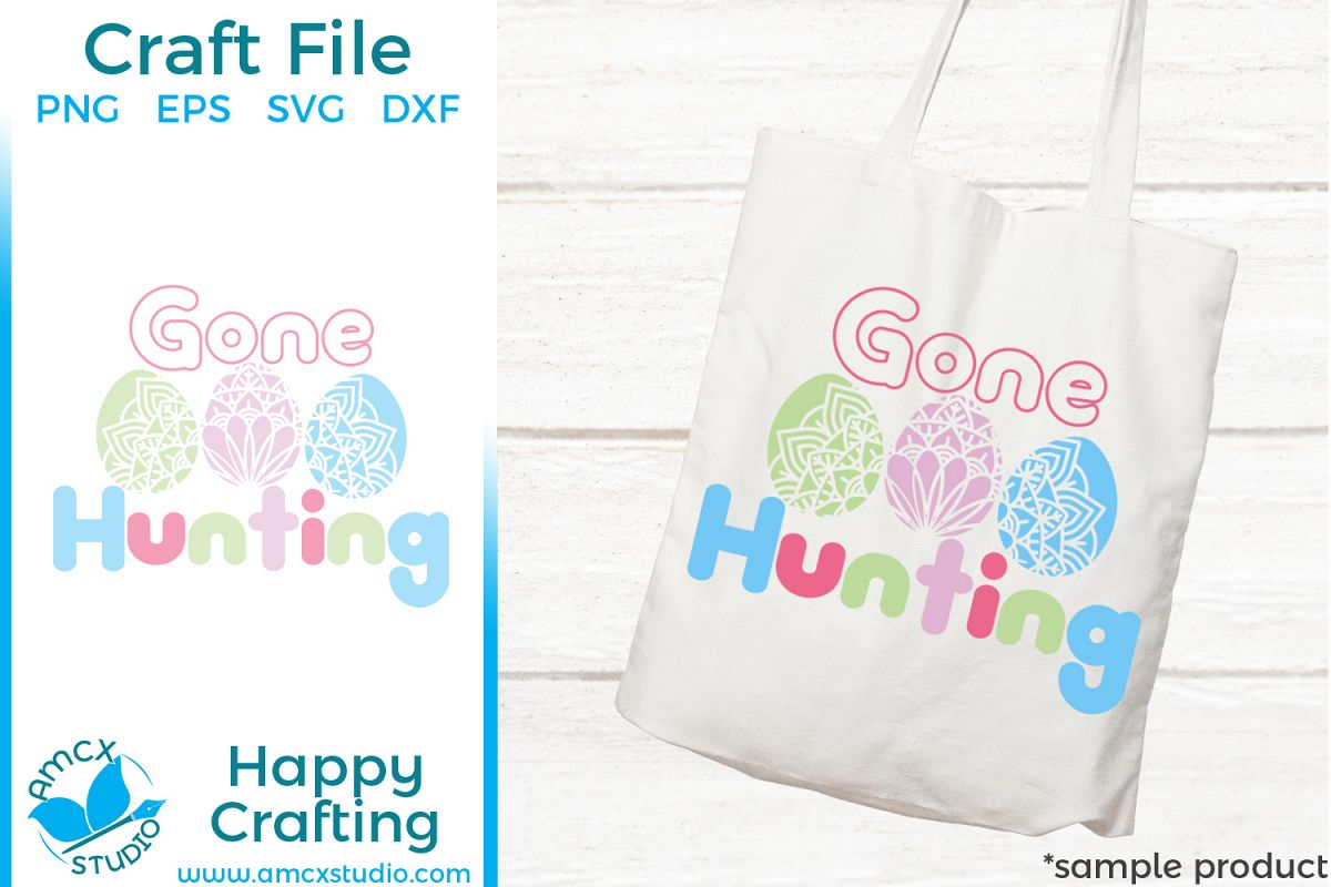 Gone Hunting - Easter Cut Craft Files example image 1