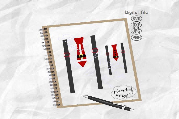 Santa Tie Svg, Christmas Tie Svg,Santa Suspender Svg,Tie svg example image 1
