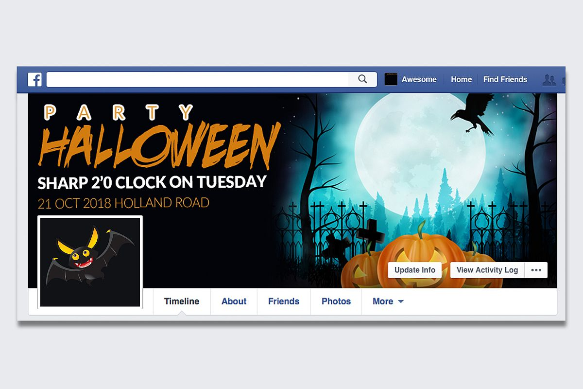 Halloween Horror Night Facebook Timeline Cover example image 1