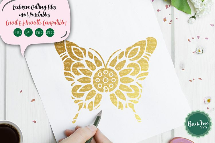 Butterfly Svg, Butterfly Mandala SVG, Butterfly Cut File example image 1