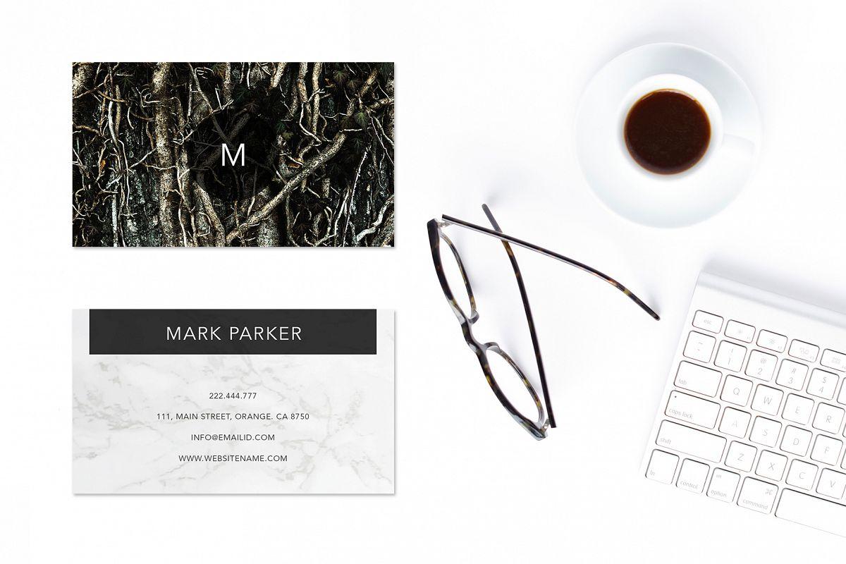 Modern Pattern Texture Beautiful Professional Art Business Card   example image 1