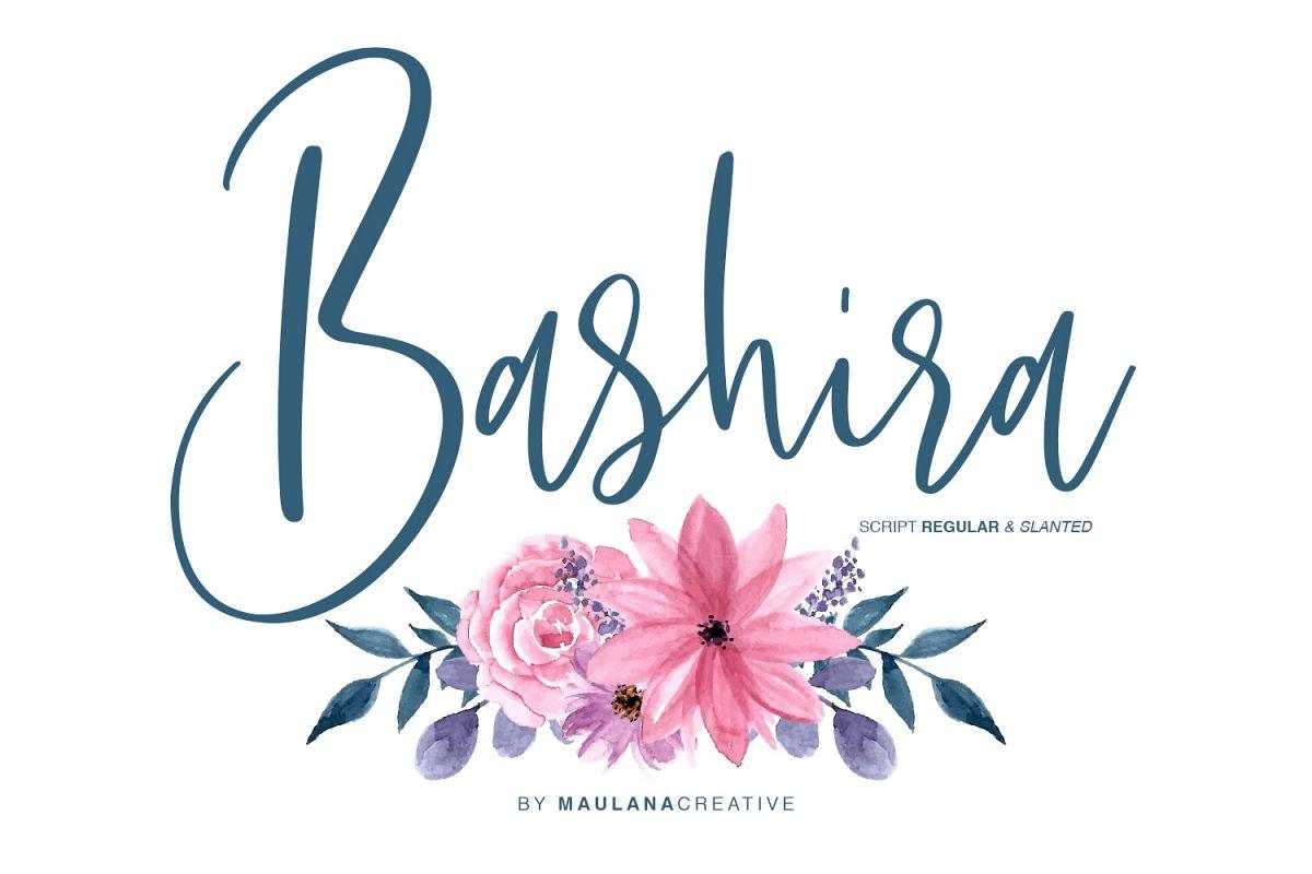 Bashira Brush Script example image 1