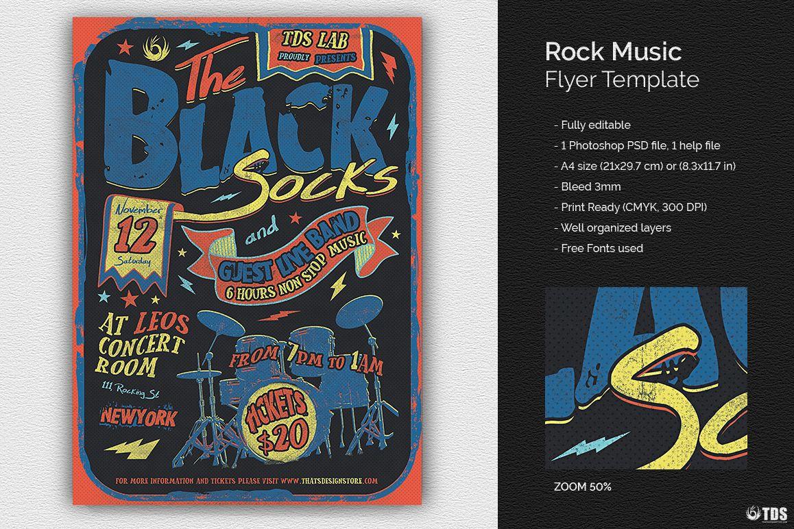 Rock Music Flyer Template