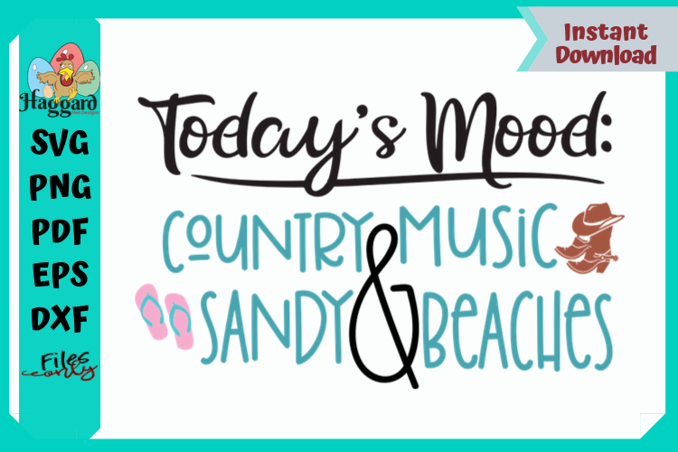 Today's Mood Country Music and Sandy Beaches example image 1