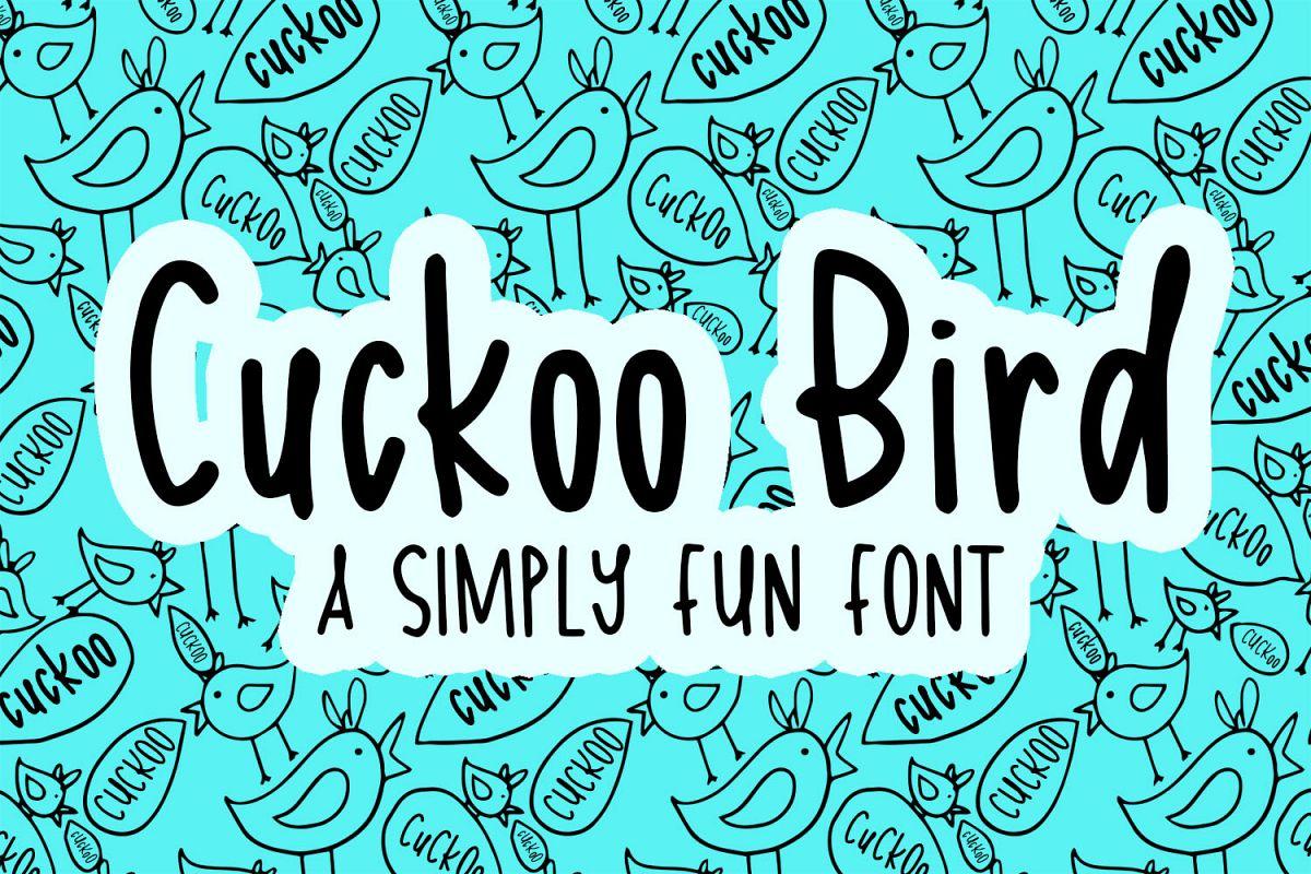 Cuckoo Bird Font example image 1