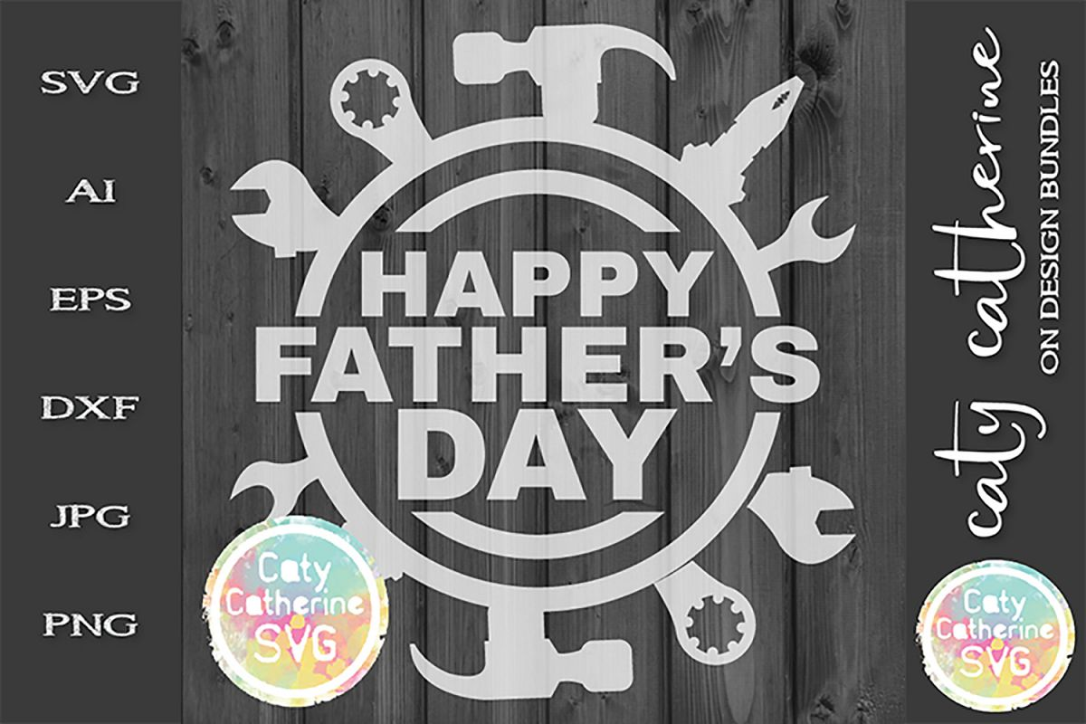 Happy Father's Day Power Tools SVG Cut File example image 1