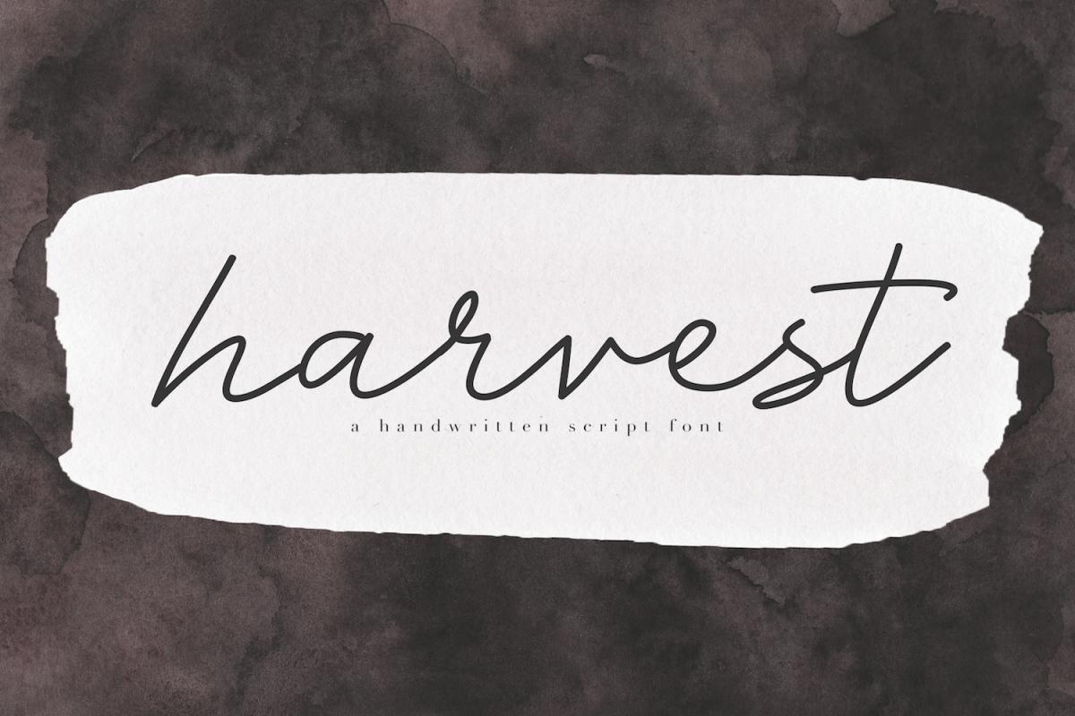 Harvest - A Handwritten Script Font example image 1