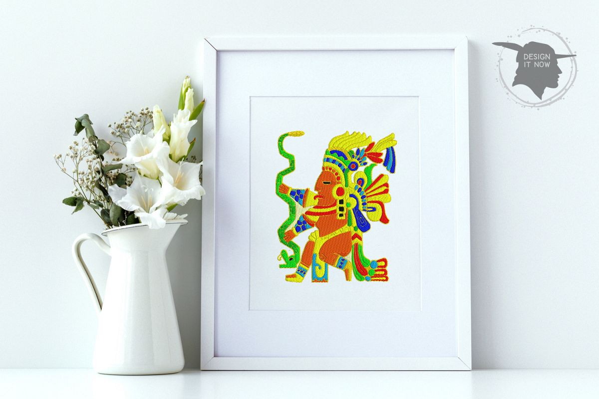 Inca Culture Embroidery Design, Inca Mythology Embroidery example image 1