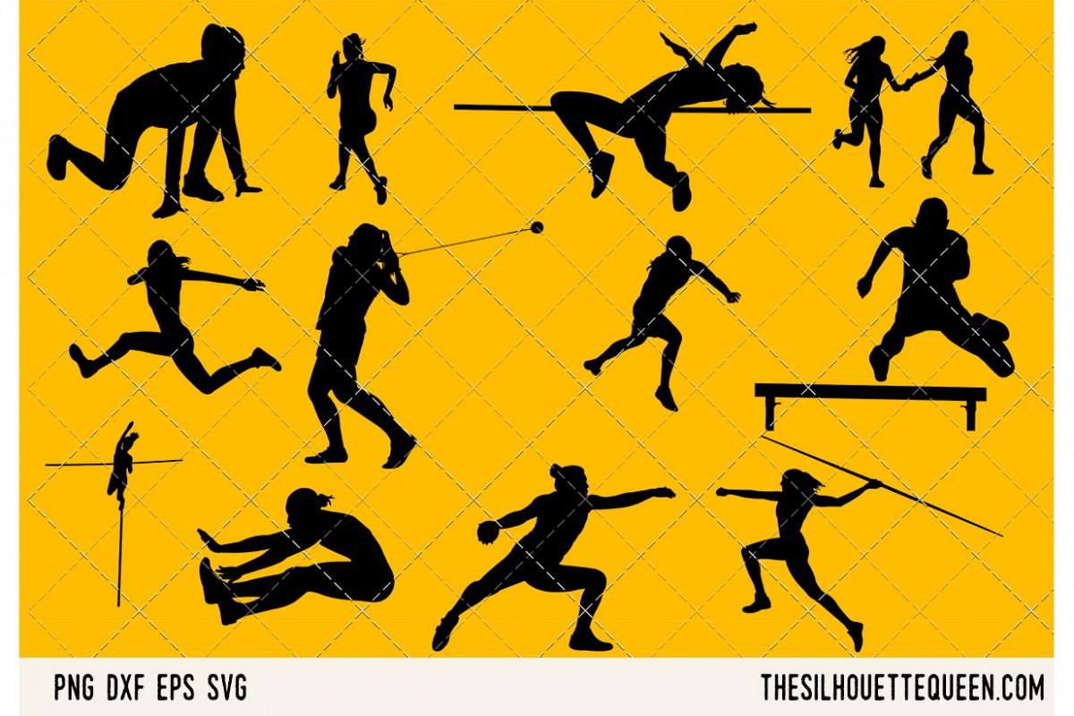 Track and Field Women SVG example image 1