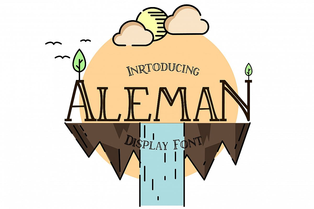 Aleman serif font example image 1