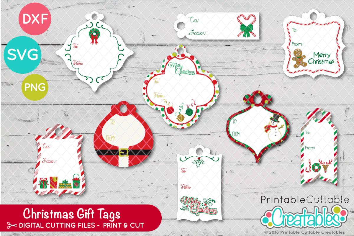 Print Cut Christmas Gift Tags Example Image 1