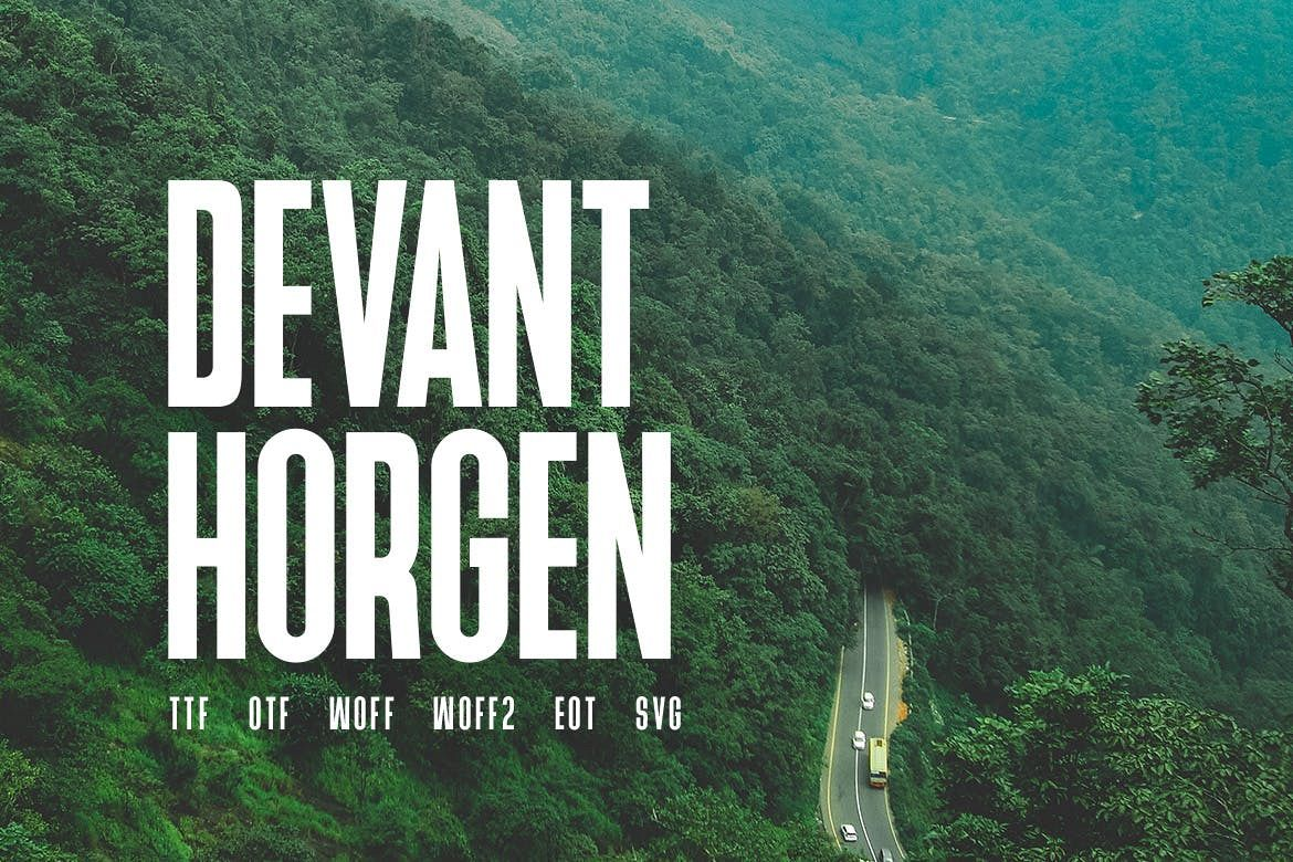 Devant Horgen - Modern Typeface with WebFont example image 1