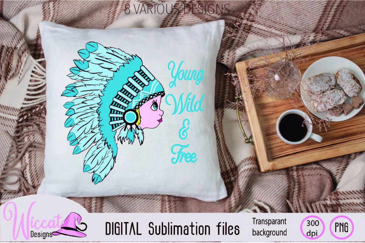 Girl with Headdress sublimation file example image 1