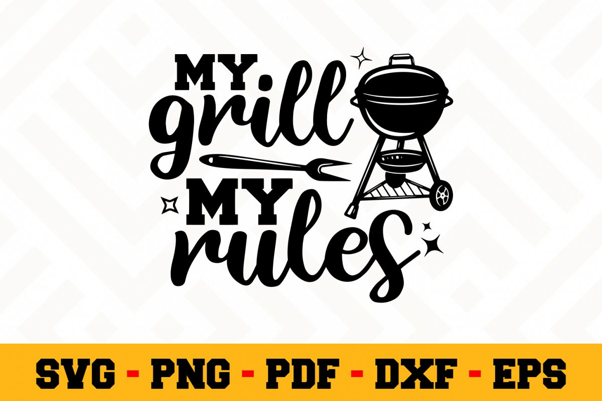 BBQ SVG Design n606 | Barbecue Grill SVG Cut File example image 1