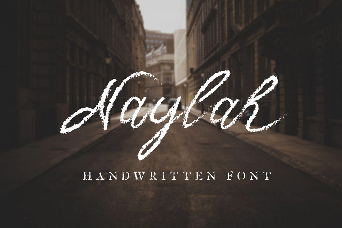 Naylah Script Brush Font example image 1