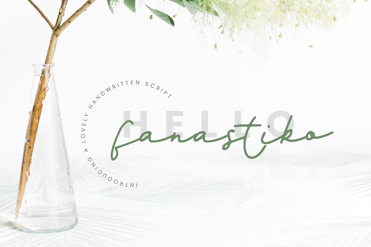 Fanastiko - A Lovely Signature Font example image 1