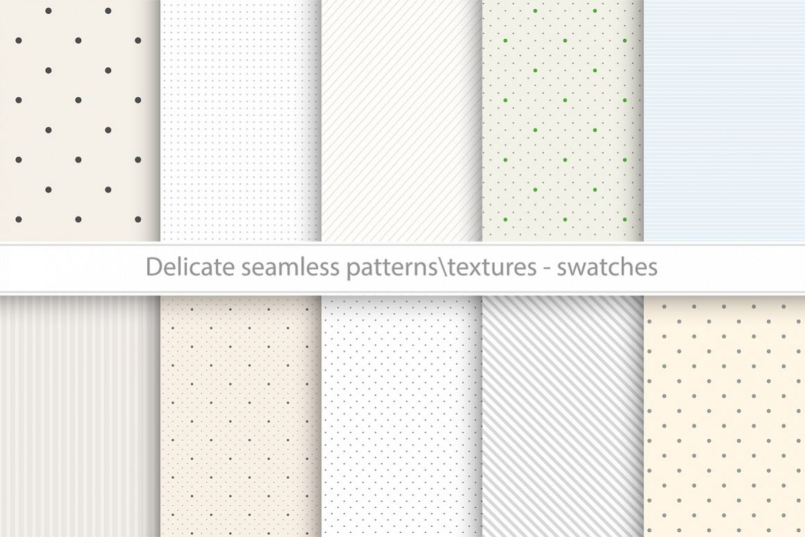 Delicate seamless vector patterns example image 1