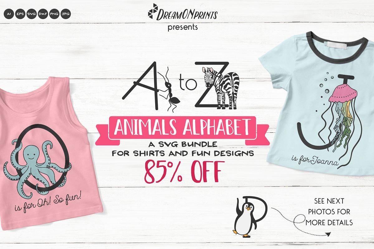 Animals Alphabet SVG | A Fun Monogram Bundle example image 1