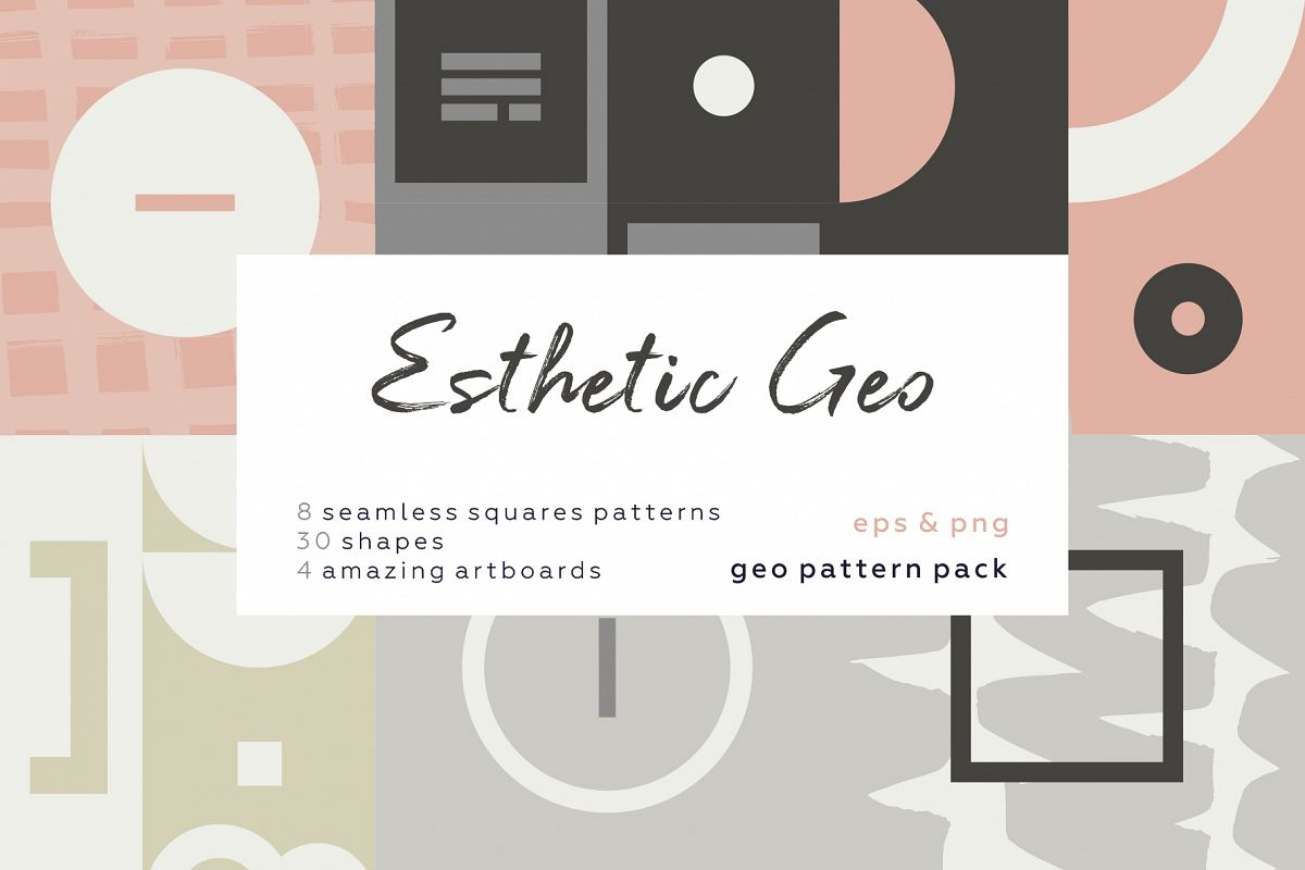 Esthetic Geometric pattern collection example image 1