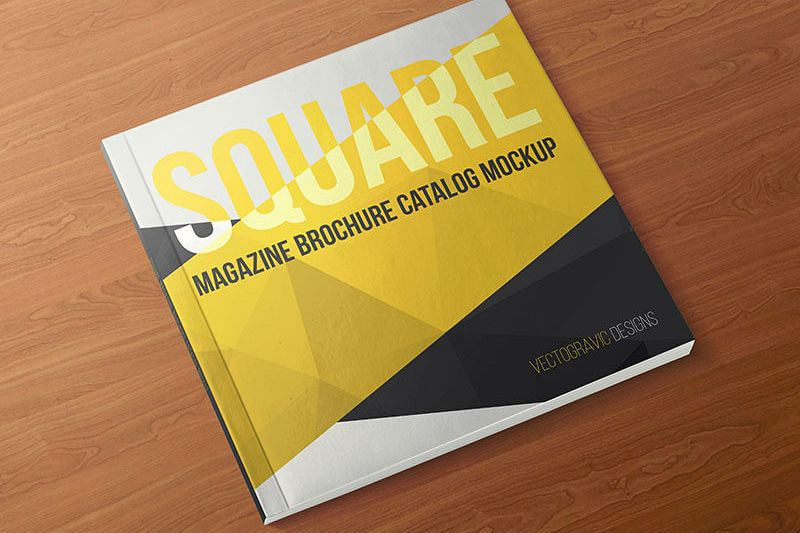 SQUARE MAGAZINE BROCHURE CATALOG MOCKUPS example image 1