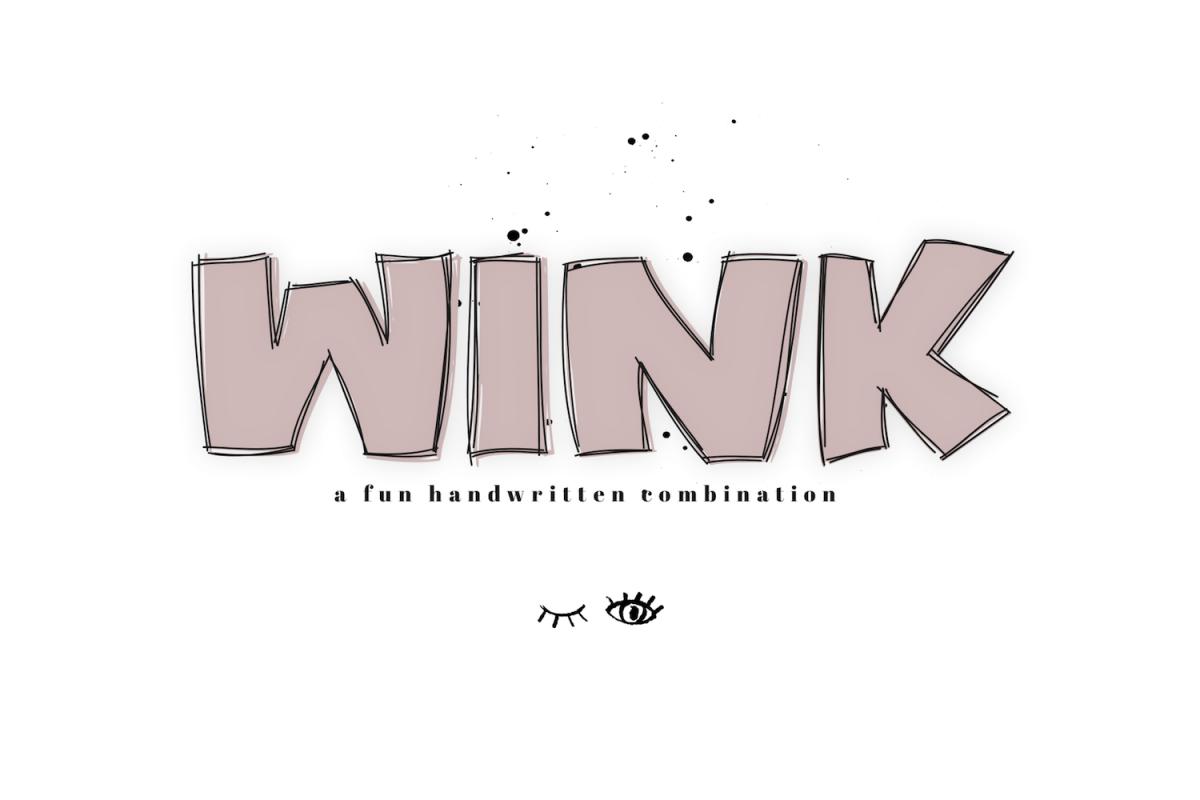 WINK - A Bold & Fun Handwritten Font example image 1