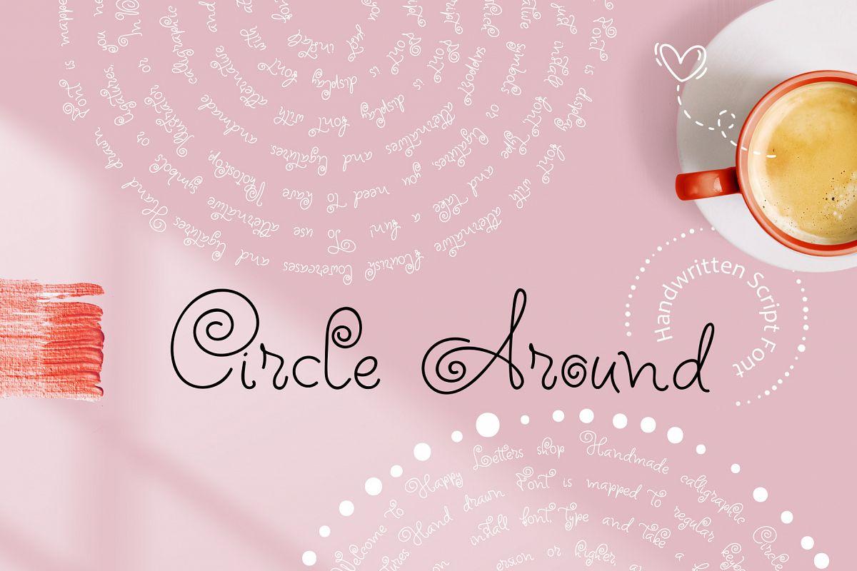 Circle Around handwritten Kids Font example image 1