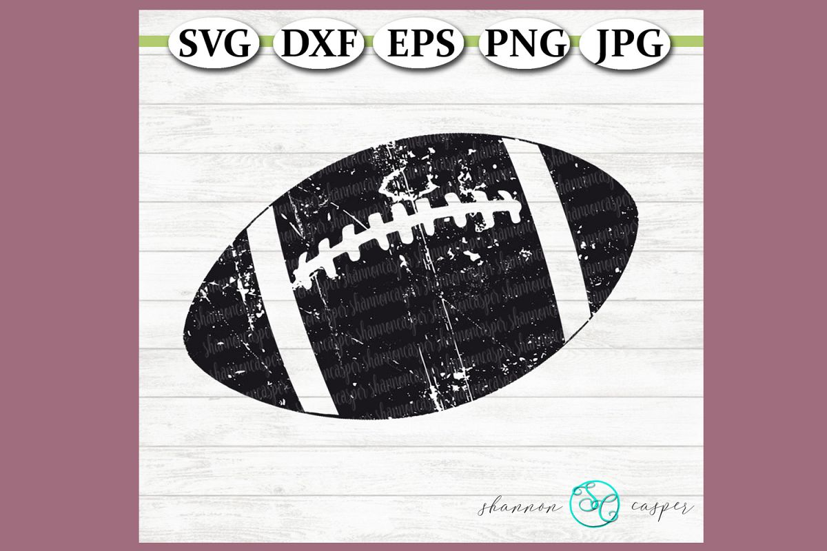 Football -Distressed Grunge example image 1