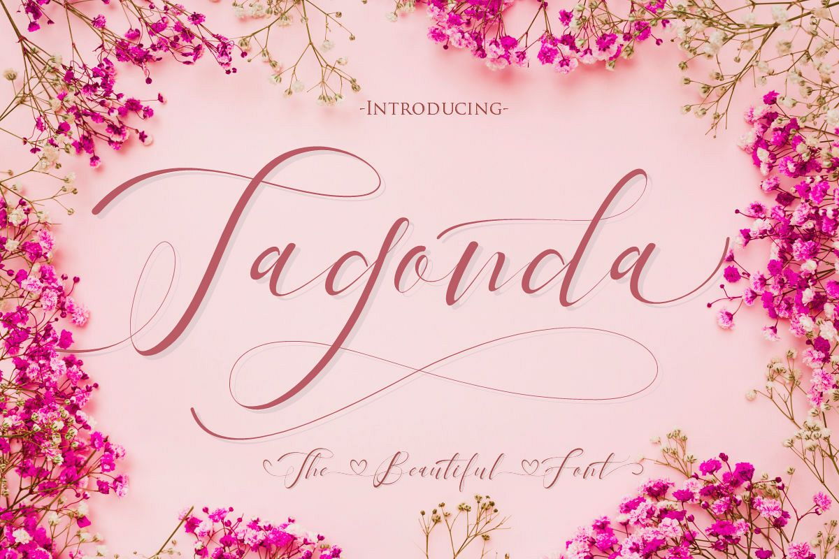 Tagonda The Beautiful Font example image 1