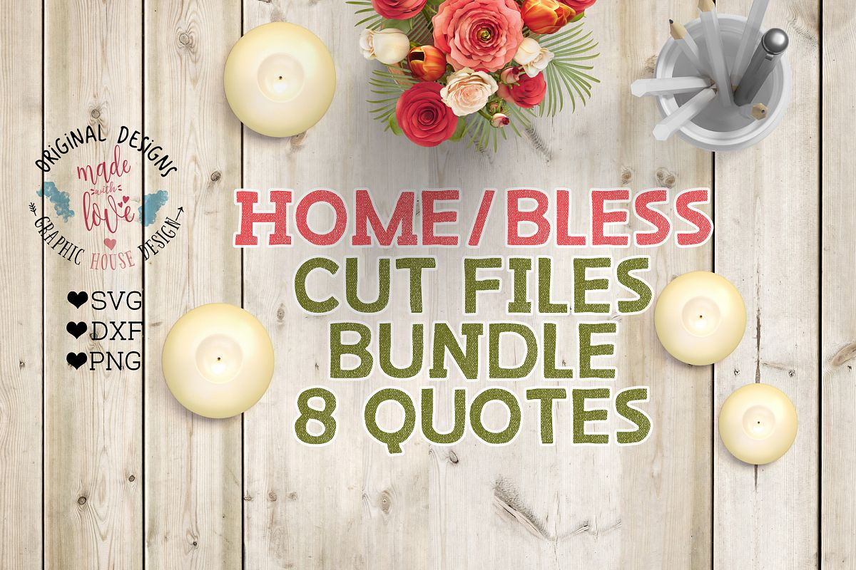 Family/Home Cutting Files Bundle SVG, DXF, PNG example image 1