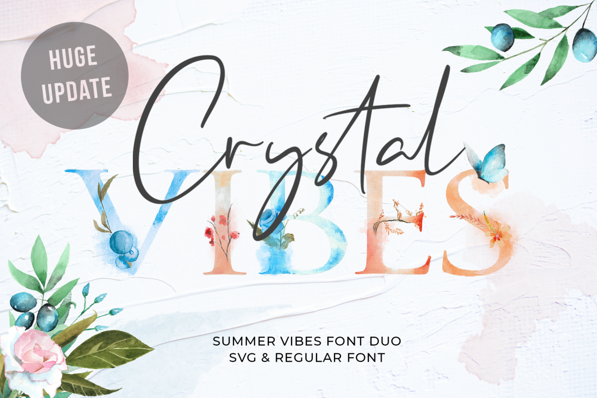 Crystal Vibes - SVG & Regular example image 1