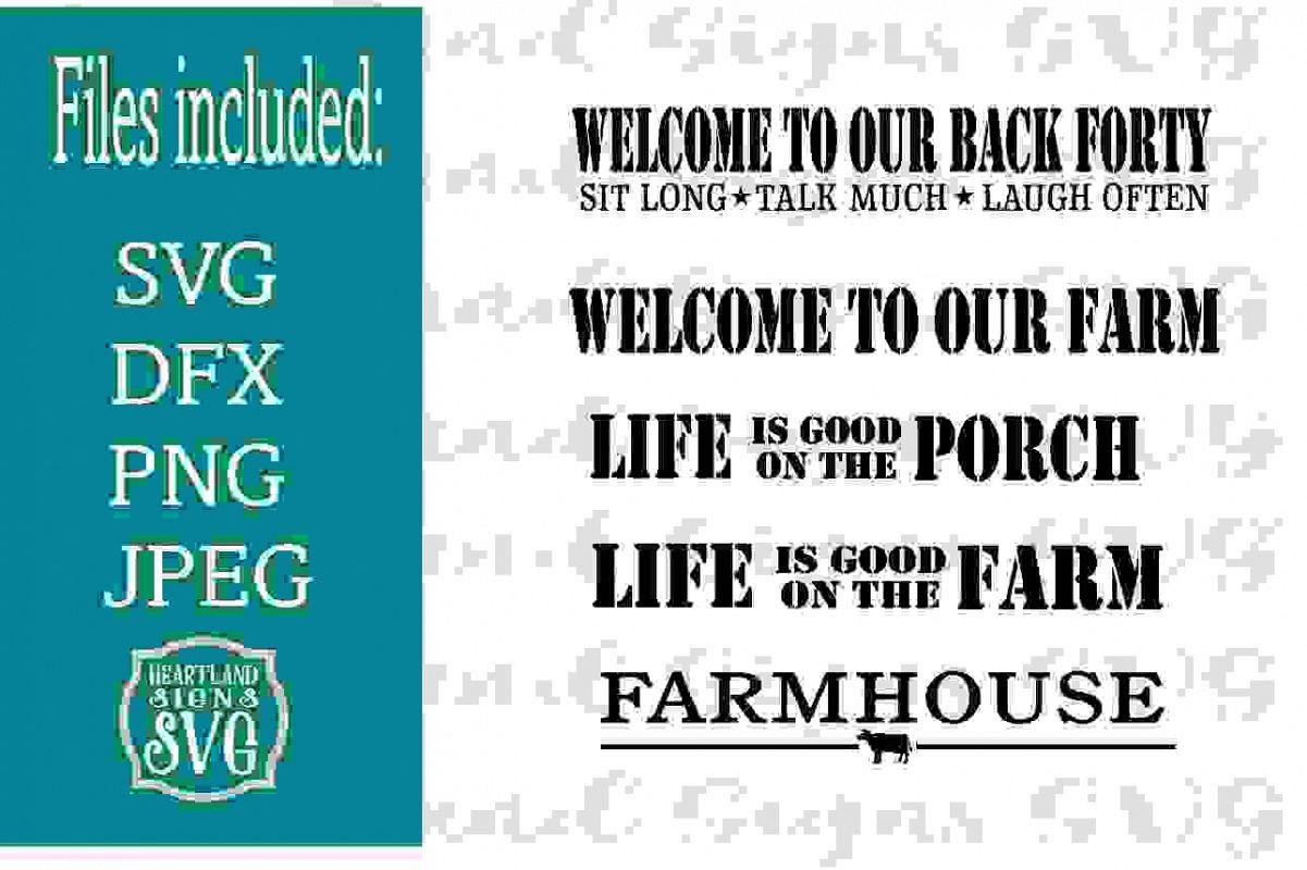 Farm Large Sign Bundle SVG example image 1