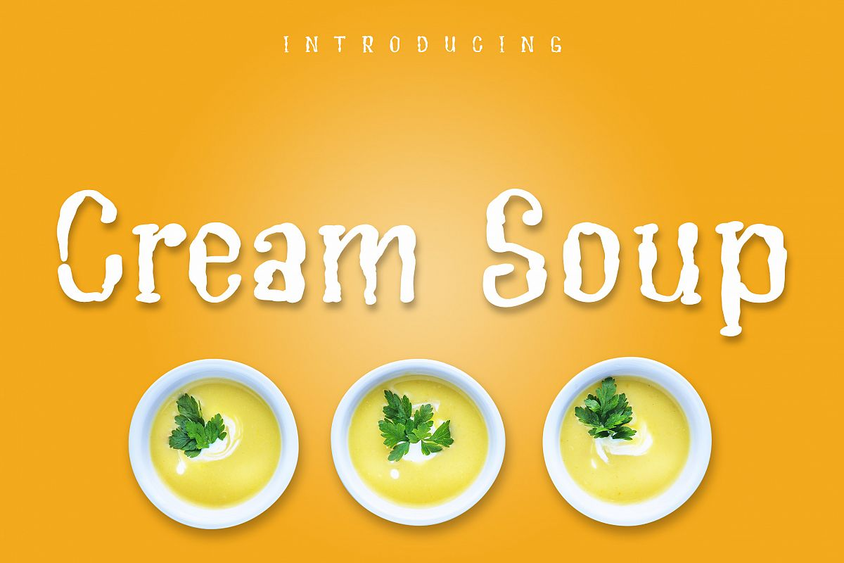 Cream Soup | Sauce Made Font example image 1