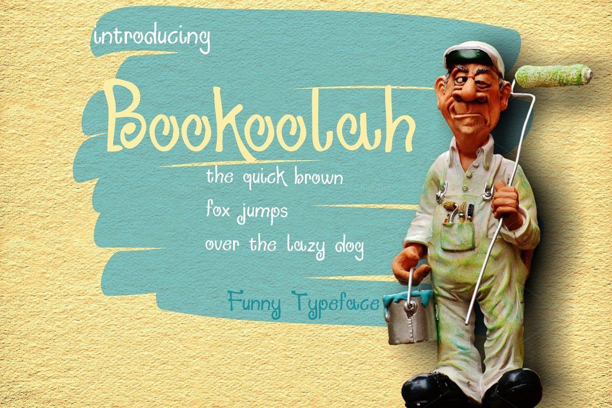 Bookolah  CURLY font example image 1